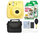 Fuji Fujifilm Instax Mini 8 Instant Film Camera Yellow + 40 Film Accessory Kit