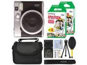Fujifilm INSTAX Mini 90 Neo Classic Fuji Instant Camera Black + 40 Film Bundle