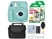 Fuji Fujifilm Instax Mini 8+ Instant Film Camera Mint + 40 Film Accessory Kit