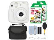 Fuji Fujifilm Instax Mini 8+ Instant Film Camera Vanilla + 40 Film Accessory Kit