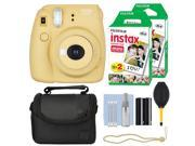 Fuji Fujifilm Instax Mini 8+ Instant Film Camera Honey + 40 Film Accessory Kit