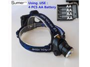 3800LM XM-T6 Led lighting Use AA Battery ZOOM head lamp Hunting Headlamp Fishing Head light Zoomable headlight Bike lights Lampe 9SIAAWS5WN4090