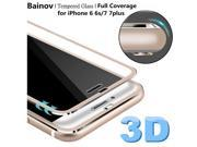 Bainov 3D Curved Edge Tempered Glass Full Coverage For iPhone 7 Titanium Protective Film Screen Protector For iPhone 6 6s Plus 9SIAAWS6Z11458