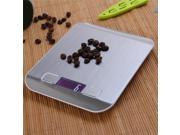 LCD Digital Kitchen Scale Fingerprint-proof Stainless Steel Platform 5000g / 1g Weighing Device Electric Food Scale 9SIV1AM6GM7124