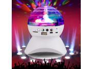 RGB Color Changing Wireless Bluetooth Speaker, LED Crystal Ball Auto Rotating, with Music Player for TF Card 9SIV1AM6GM9078