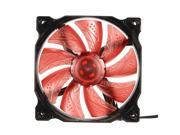 3 Pin 4 Pin 120mm PWM PC Computer Case CPU Cooler Cooling Fan with LED red