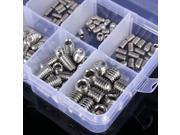 200pcs/set Stainless Steel Allen Head Socket Hex Set Grub Screw Assortment Cup Point 9SIABMK57X4484