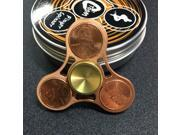 Tri-Spinner Fidgets Toy Brass EDC Sensory Cent Decorate Fidget Spinner For Autism and ADHD Kids/Adult Anti Stress Toys 9SIABMK5CW3917