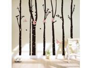 Forest Birds Trees Home Decoration Art Wall Decal Wall Stickers for Kids Room Living Room Bedroom TV Background 9SIV1AM78G4474
