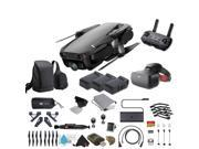 Onyx Black DJI Mavic Air Quadcopter Drone + FPV Racing Goggles Bundle with Warranty