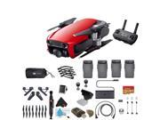 Flame Red DJI Mavic Air Quadcopter Drone 4 Battery Bundle With Warranty