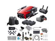 Flame Red DJI Mavic Air Quadcopter Drone + FPV Racing Goggles Bundle with Warranty