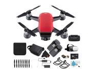 DJI Spark Quadcopter Fly More Combo (Lava Red) CP.PT.000735 + Starter Accessories