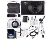 Nikon 1 J4 Mirrorless Digital Camera with 10-30mm Lens (Black) (International Model No Warranty) + Nikon WP-N3 Waterproof Housing + EN-EL22 Battery + 16GB SDHC