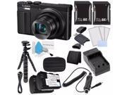 Panasonic Lumix DMC ZS50 12.1 MP Wi Fi GPS Digital Camera Black DMW BCM13 Battery External Charger 16GB SDHC Card Saver Bundle 2 International Versi