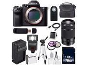 Sony Alpha a7S II a7S Mark II a7SII ILCE7SM2/B Mirrorless Digital Camera (International Model ) + Sony E 55-210mm f/4.5-6.3 OSS E-Mount Lens (Black) + 49mm Filt