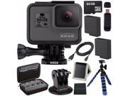 GoPro HERO5 Black CHDHX-501 + Replacement Lithium Ion Battery For GoPro Hero5 + 64GB microSDXC Card + Micro HDMI Cable + Case for GoPro HERO4 and GoPro Accessor