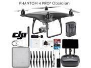 DJI Phantom 4 Pro+ Obsidian Quadcopter Drone + Remote with Built in Screen Bundle