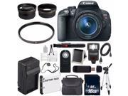 Canon EOS Rebel T5i 18 MP CMOS Digital SLR Camera w/EF-S 18-55mm Lens (International Model) + 58mm UV Filter Bundle 9SIABMT6Z30584