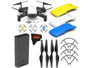 Ryze Tech Tello Quadcopter #CP.PT.00000252.01 + Ryze Tech Snap-On Cover for Tello (Blue) + Ryze Tech Snap-On Cover for Tello (Yellow) + MicroFiber Cloth Bundle