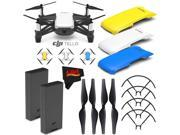 Ryze Tech Tello Quadcopter #CP.PT.00000252.01 + Ryze Tech Snap-On Cover for Tello (Blue) + Ryze Tech Snap-On Cover for Tello (Yellow) + Ryze Tech Battery for Te