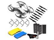 Ryze Tello Quadcopter Drone with 720P HD Camera - Bundle Yellow + Blue Drone Covers