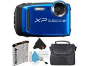 Fujifilm FinePix XP120 Waterproof Point & Shoot Digital Camera (Blue) Starter Bundle