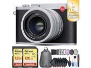 Leica Q (Typ 116) Digital Camera (Silver Anodized) Travel Kit