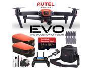 Autel Robotics EVO Quadcopter + Two Extra Batteries + 64GB Micro SD Memory Card Combo