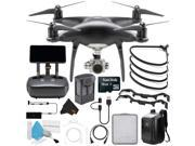 DJI Phantom 4 Pro Plus Obsidian Edition Quadcopter + Polar Pro Landing Gear For DJI Phantom 4 and Hard BackPack Bundle