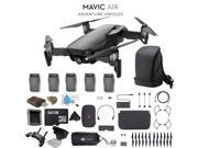 DJI Mavic Air Foldable Quadcopter Fly More Combo (Onyx Black) CP.PT.00000156.01 + + 2 DJI Intelligent Flight Battery for Mavic Air (5 Total) + Carrying Case and