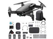 DJI Mavic Air Foldable Quadcopter Fly More Combo (Onyx Black) CP.PT.00000156.01 + DJI Carry More Backpack + Additional Battery (4 Total) and More