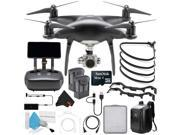 DJI Phantom 4 Pro Plus Obsidian Edition Quadcopter + Extra DJI Intelligent Flight Battery and Hard BackPack Bundle