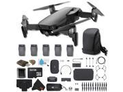DJI Mavic Air Foldable Quadcopter Fly More Combo (Onyx Black) CP.PT.0000015601 + 2 DJI Intelligent Flight Battery for Mavic Air (5 Total) + Carrying Case and Mo