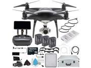DJI Phantom 4 Pro+ Obsidian Edition Quadcopter + 2 Extra Batteries and Case Bundle
