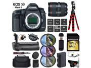 Canon EOS 5D Mark III DSLR Camera with 24-105mm f/4L II Lens + Professional Battery Grip + UV FLD CPL Filter Kit + Case + Wrist Strap + Tripod + Card Reader - I
