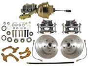 REVS RCBK5558LX - 55-58 Chevy Bel Air 150 210 Impala Complete Power disc brake kit