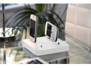 KiwiBox - Universal Charging Station for up to 6 devices, compatible with all Smartphones - White