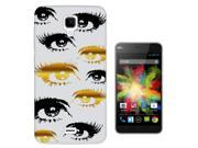 Wiko Bloom Gel Silicone Case All Edges Protection Cover c0493 - Eyes (Black & Gold) (Clear Background) 9SIABTA4JF9998
