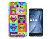 Asus Zenfone 2 Gel Silicone Case All Edges Protection Cover C0855 - Cool Funny Earphones Monkey Neon Colours 9SIABTA4JU2535