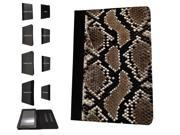 1108 - Cool Fun Snake Skin Pattern Design Amazon Kindle Fire HD 7'' 4th Generation 2014  Pouch Cover Book Style Defender Stand Cover