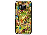 1127 - Collage Multi Art Cat Dog Burger candy cup cake Design For htc One M9 Hard Plastic Case Back Cover