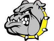 5in x 4.5in Yellow Collar Bull Dog Mascots Bumper Sticker Vinyl Window Decal