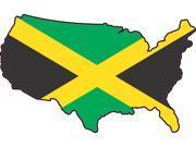 5in x 3in Die Cut USA Jamaica United States Of America Flag Bumper Sticker Vinyl Window Decal