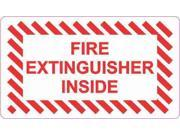 3.5in x 2in Fire Extinguisher Inside Decal Vinyl Stickers Sign Sticker