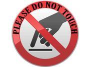 3in x 3in Pointer Finger Please Do Not Touch Sticker Vinyl Business Sign Decal