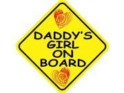 5in x 5in Daddy's Girl On Board Sticker Vinyl Vehicle Sign Window Stickers