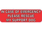 10in x 3in Please Rescue Support Dog Vinyl Car Bumper Magnet Truck Magnets