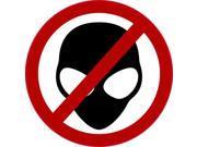 4in x 4in No Aliens Allowed Sticker Vinyl Alien Bumper Decal Cup Stickers
