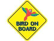 6.75inx6.75in Macaw Bird On Board Magnet Vinyl Caution Sign Animal Magnets